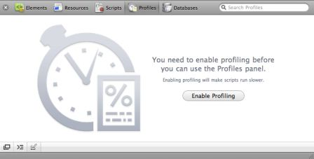 Profiler activation screen